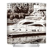 Momousse Yacht In Montreal Shower Curtain
