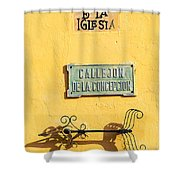 Mompox Street Signs Shower Curtain