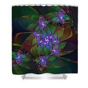Mom's African Violets Shower Curtain