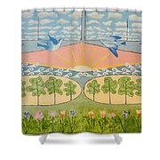 Do You See Love? By Marian Krause Shower Curtain