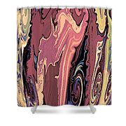 Mom's Venetian Glass Vase 16 Shower Curtain