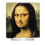 Mona Lisa Making Faces Shower Curtain