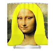 Mona Lisa Went To California Shower Curtain