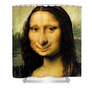 Mona Lisas Twin Sister Shower Curtain