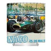 Monaco F1 Grand Prix 1968 Shower Curtain