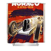 Monaco Grand Prix 1930 Shower Curtain
