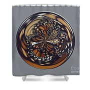 Monarch Butterfly Abstract Shower Curtain