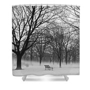 Monarch Park Ground Fog Shower Curtain