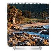 Monastery Beach In Carmel California Shower Curtain