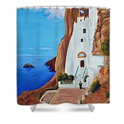 Monastery Shower Curtain