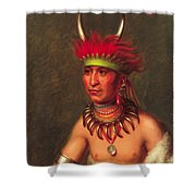 Monchousia . White Plume  Kansa Shower Curtain