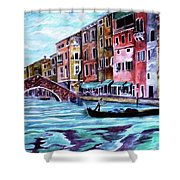 Monday In Venice Shower Curtain