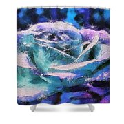 Monet Frosted Rose Shower Curtain