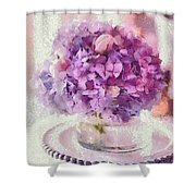 Monet Purple Pedestal Shower Curtain