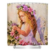 Monet Silked Angel Shower Curtain