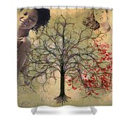Monet Splashed Petals Shower Curtain