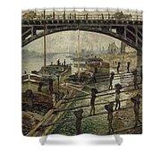 Monet The Coalmen 1875 Shower Curtain