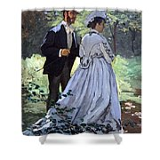 Monet's Bazille And Camille Shower Curtain