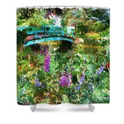 Monet's Bridge In Spring Shower Curtain