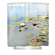 Monet's Garden Shower Curtain