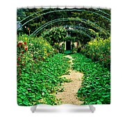 Monet's Gardens At Giverny Shower Curtain