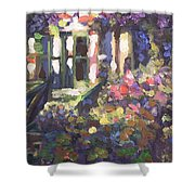 Monet's Home In Giverny Shower Curtain