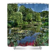 Monet's Lily Pond At Giverny Shower Curtain