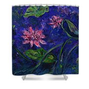 Monet's Lily Pond II Shower Curtain
