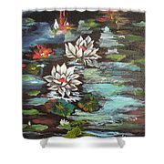 Monet's Pond With Lotus 1 Shower Curtain