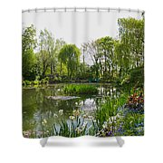 Monet's Water Garden At Giverny Shower Curtain by Alex Cassels