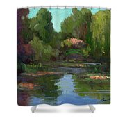 Monet's Water Lily Pond Shower Curtain