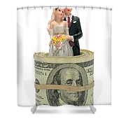 Money And Happiness Shower Curtain