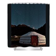 Mongolia By Starlight Shower Curtain