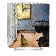 Monhegan Kitchen Shower Curtain
