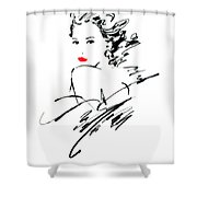 Monique Variant 1 Shower Curtain by Giannelli