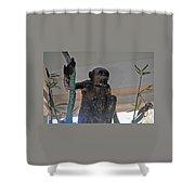 Monkey Tree  Shower Curtain