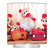 Monkeys And Music Shower Curtain