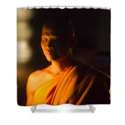Monks At Yi Peng Shower Curtain