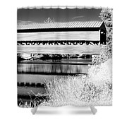 Mono Bridge Shower Curtain