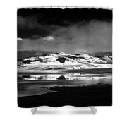 Mono Craters Shower Curtain