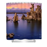 Mono Lake Afterglow Shower Curtain by Inge Johnsson