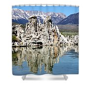 Mono Lake And Sierra Mtns Shower Curtain