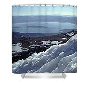 Mo-186-mono Lake From Mt. Dana In Winter  Shower Curtain