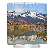 Mono Lake Reflections Shower Curtain