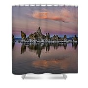 Mono Lake Sunset Shower Curtain