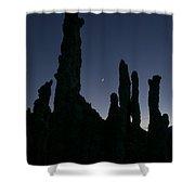 Mono Lake Tufas Silhouette Shower Curtain
