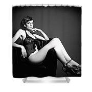 Monochrome Elegance Shower Curtain
