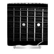 Monochrome Fretboard Shower Curtain