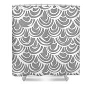 Monochrome Scallop Scales Shower Curtain