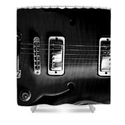 Monochrome Yamaha Shower Curtain